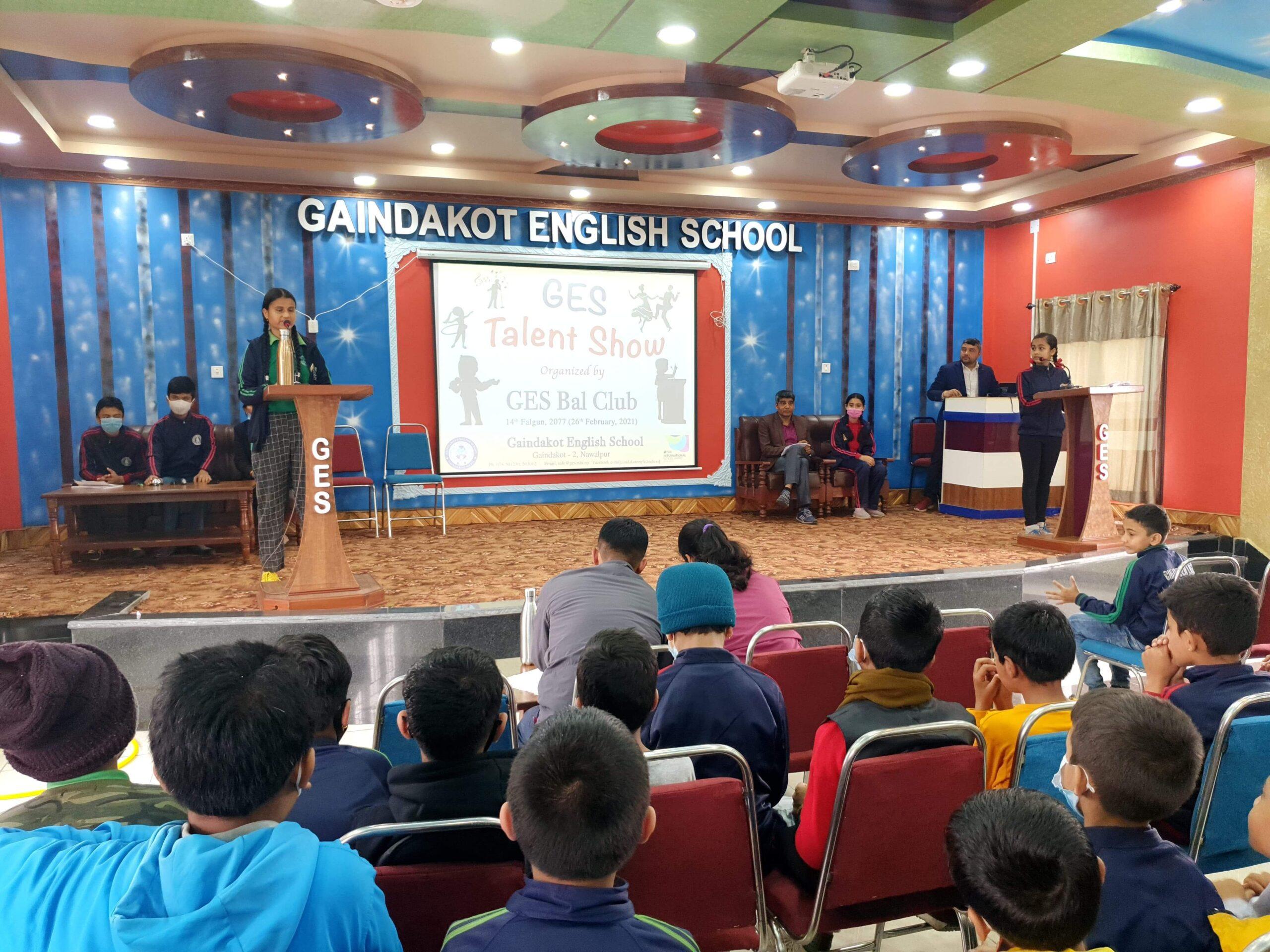 गैंडाकोट इंग्लिस स्कूलमा प्रतिभा प्रस्फुटन कार्यक्रम सम्पन्न ।